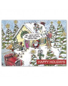 Electric Wishes Contractor & Builder Holiday Cards
