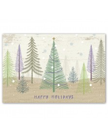 Pastel Pines Holiday Postcards