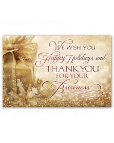Gold Joy Holiday Postcards