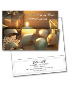 Holiday Token Coupon Cards