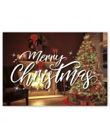 Crackling Christmas Holiday Greeting Cards