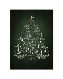 Evergreen Thanks Holiday Cards