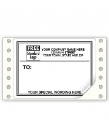 Mailing Labels, Continuous, White W/ Black Borders