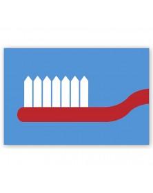 Dental Laser Postcards Toothbrush