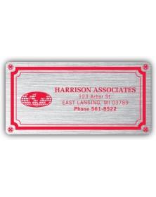 Weatherproof Plate Silver Labels
