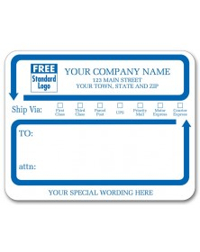 Jumbo Mailing Ship Via Labels