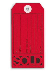 Red Sold Tags with Imprint