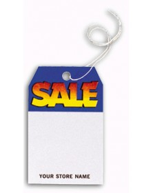 Small Blue and Yellow Sale Tags