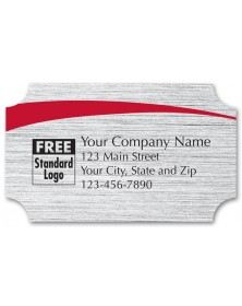 Rectangular White Brushed Labels