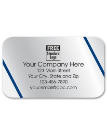 Promotional Rectangular Silver Labels