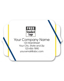 Predesigned Matte Advertising Labels