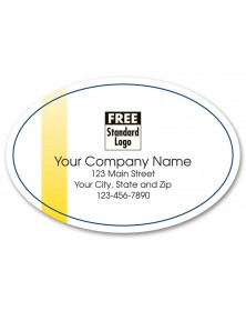 White Oval Marketing Label