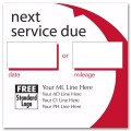 Static Cling Service Label w/Red Arc 2.5x2.5