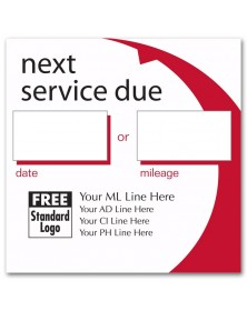 Static Cling Call for Service Labels