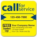 Call for Service Label on Yellow High Gloss 3x3