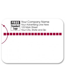 Classy Design Red Mailing Label