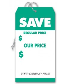 Personalized Large Green Tags