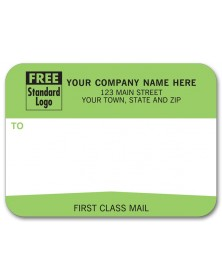 """Padded Mailing Label, """"First Class Mail"""""""
