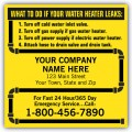 Water Heater Service Labels, with Pipe Border, Vinyl
