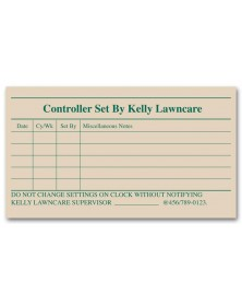 Square Corner Checklist Label