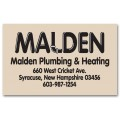 Square Corner Business Address Paper Label