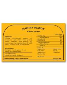 Square Corner Product Nutrition Label