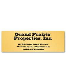Business Address Poly Label