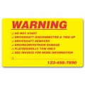 Weatherproof Warning Labels