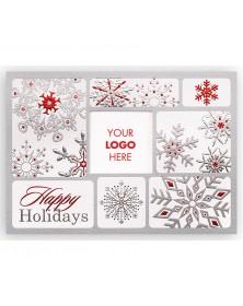 Festive Snowflake Logo Holiday Card