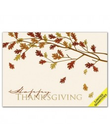 Colors Of Fall Foil Leaves Thanksgiving Card