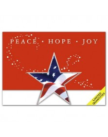 Patriotic Star Diecut Holiday Cards
