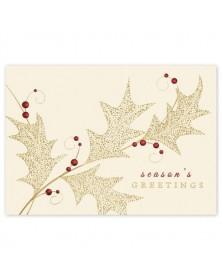Precious Holly Holiday Cards