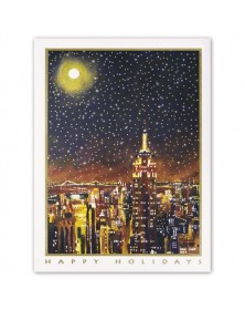 Starry City Lights Holiday Cards