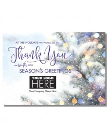 Glowing Thanks Holiday Logo Cards