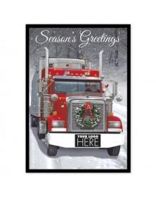 Big Rig Wreath Transportation Holiday Logo Cards