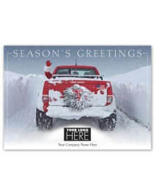 Snow Driven Holiday Logo Cards
