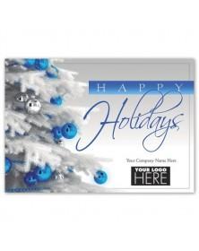 Shiny & Blue Christmas Logo Cards