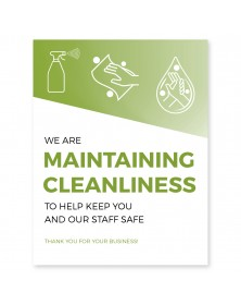 "Maintaining Cleanliness Poster 11"" x 17"" Green Pack of 6"