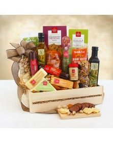 Ultimate Meat & Cheese Wooden Food Gift Crate