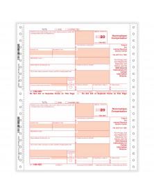 Continuous 1099-NEC 3 Parts Carbonless Copy A B & C