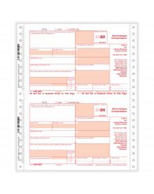 Continuous 1099-NEC 4 Parts Carbonless Copy A B & C