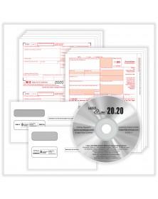 1099-NEC & W2 Laser Set with Envelopes & Software