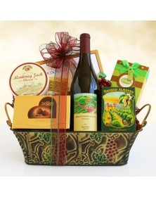 Wine & Gourmet Holiday Gifts Basket