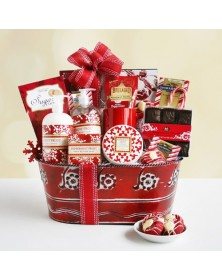 Peppermint Frost Spa Basket