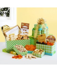 Gourmet Business Gift Gingham Tower