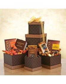 Stylish Chocolate Celebrations Godiva Tower