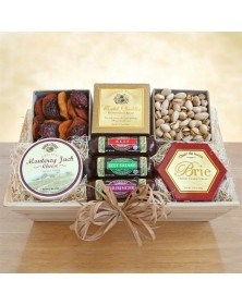 Meat & Cheese Gifts Wooden Crate
