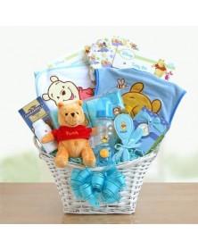 Winnie the Pooh Baby Boy Basket