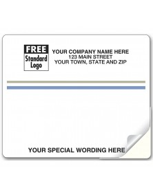Laser Blue And Gray Stripe Mailing Label