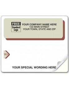 Laser Burg Gray Mail Label